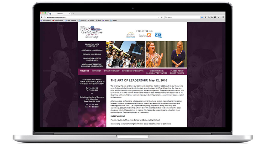 Mayor's Celebration - The Art of Leadership, Costa Mesa Chamber of Commerce