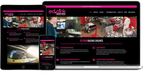 Ed Pink Racing Engines – Website