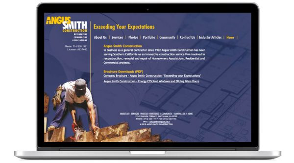 Angus Smith Construction – Website